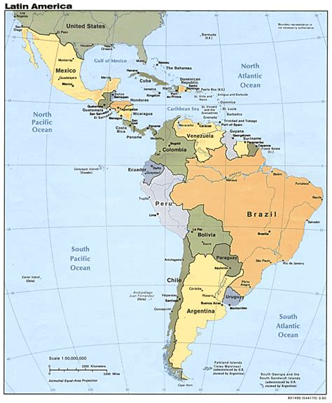 Mapas de América Latina   LANIC   Español