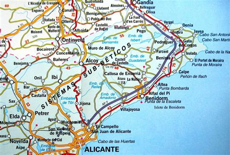 Mapas de Benidorm   Espanha | MapasBlog