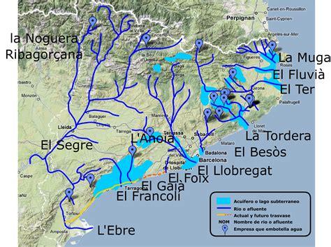 Mapas de cataluña, de rios, afluentes, acuíferos catalanes ...