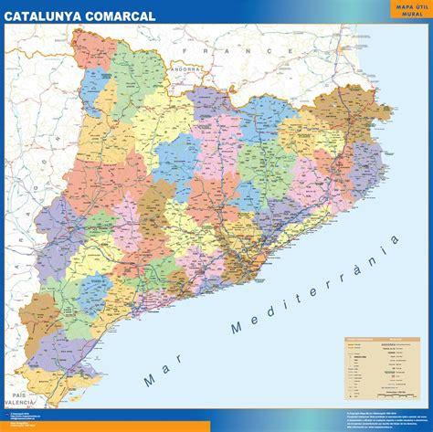 Mapas de Catalunya de carreteras y municipios | Envío ...