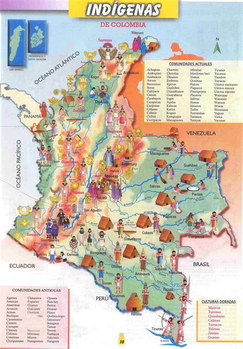 Mapas de Colombia: MAPA DE LOS INDÍGENAS DE COLOMBIA