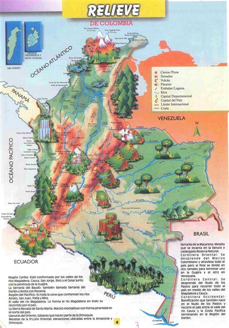Mapas de Colombia: MAPA DEL RELIEVE COLOMBIANO
