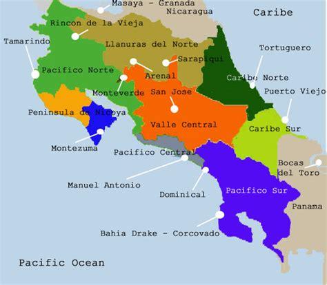 Mapas de Costa Rica y San Jose