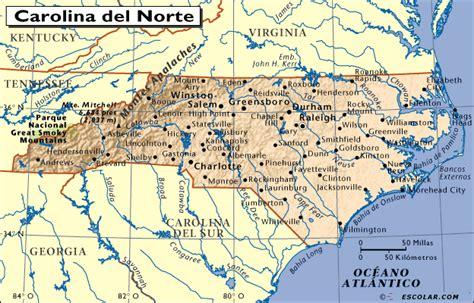 Mapas de Escolar.com   Mapa de Carolina del Norte