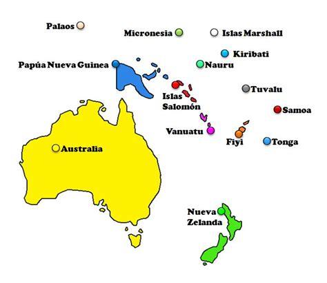 Mapas de los 5 continentes  países    Saber es práctico