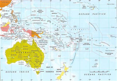 Mapas de Oceania: Fisico y Politico   Universo Guia