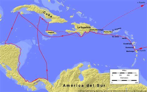 Mapas del cuarto viaje de Cristobal Colón - Imagui