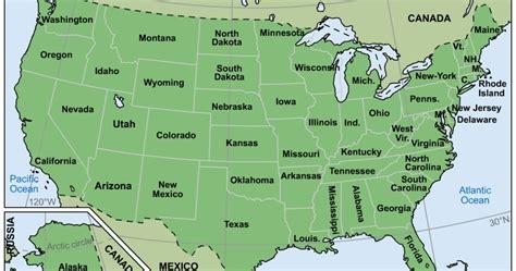 Mapas del Mundo: Mapa político de estados unidos