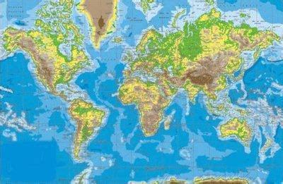Mapas Escudos Banderas: Planisferio Mapa Mudo Físico y ...