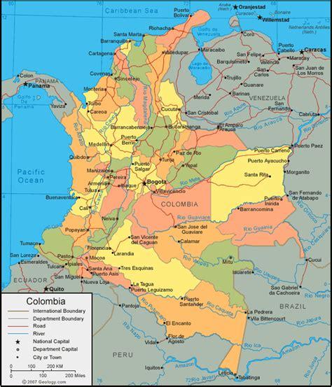 MAPAS GEOGRÁFICOS DA COLÔMBIA - Geografia Total™
