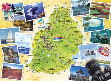 Mapas imprimidos de Mauricio con posibilidad de descargar