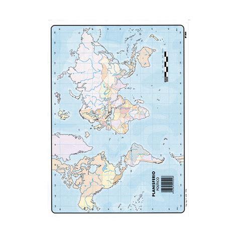 Mapas Mudos Makro Paper Planisferio Fisico | ControlOficina