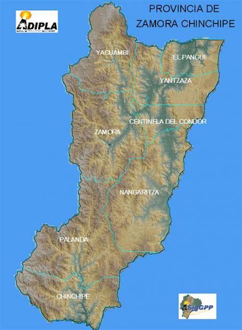 Mapas politico de Zamora Chinchipe