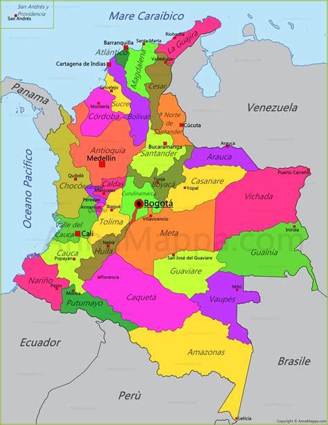 Mappa Colombia - AnnaMappa.com