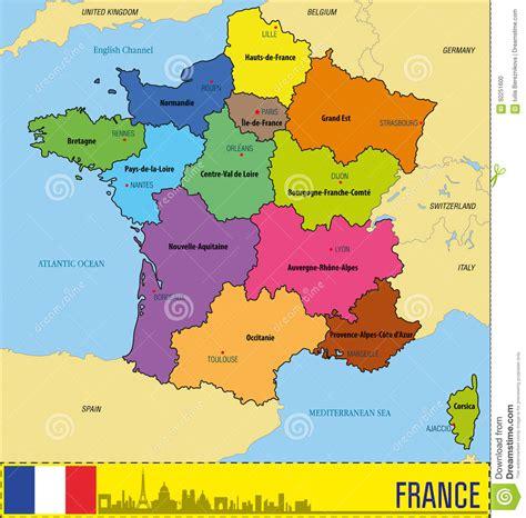 Mappa Della Francia Con Le Regioni E Le Loro Capitali ...