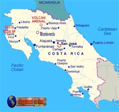 Mappa geografica Costarica