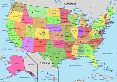 Mappa Stati Uniti | Cartina USA - AnnaMappa.com