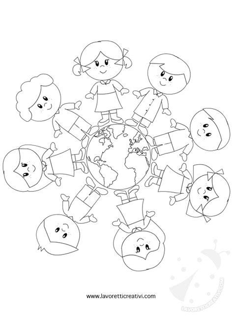 Mappamondo Da Colorare Per Bambini Galleria Di Immagini