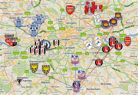 Mapped: London's Moving Football Clubs | Londonist