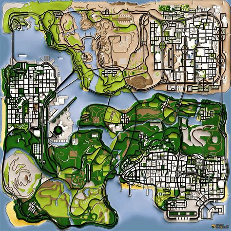 Maps for GTA San Andreas