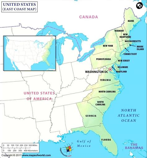 maps: Map Eastern Us States