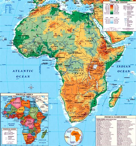 Maps of African Continent, Countries, Capitals and Flags ...