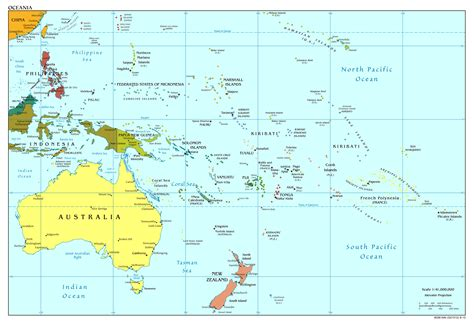 Maps of Australia and Oceania and Oceanian countries ...