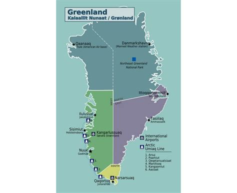 Maps of Greenland | Detailed map of Greenland in English ...