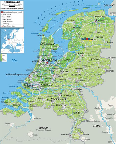 Maps of Holland | Detailed map of Holland in English ...