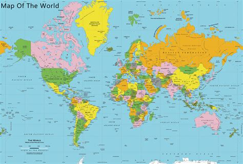 Maps Of The World To Print and Download | Chameleon Web ...