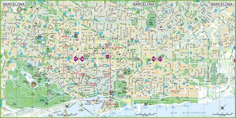 Maps Update #30722069: Barcelona City Map Tourist ...