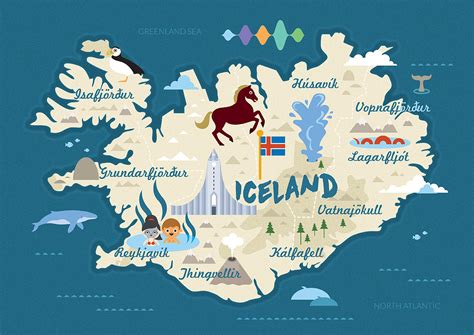Maps Update #32011996: Iceland Travel Map – Travel map of ...