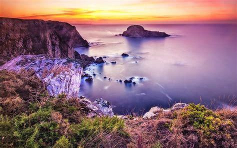 Mar Flores paisaje naturaleza fondos de pantalla gratis