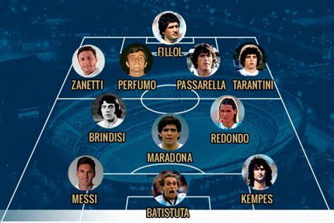 Maradona y Messi en el once ideal de todos los tiempos de ...
