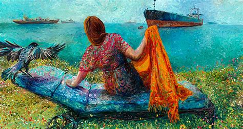 Maravillosas pinturas al óleo usando solo los dedos por ...