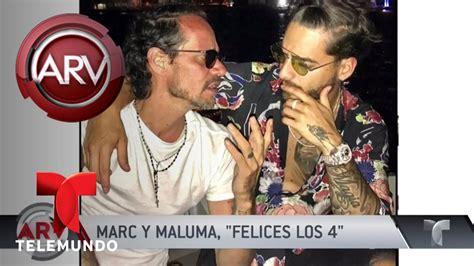 Marc Anthony y Maluma parecen  hermanos  | Al Rojo Vivo ...