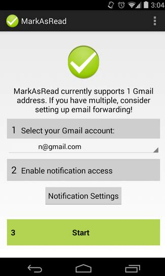 Marca como leído un mail directamente desde la barra de ...