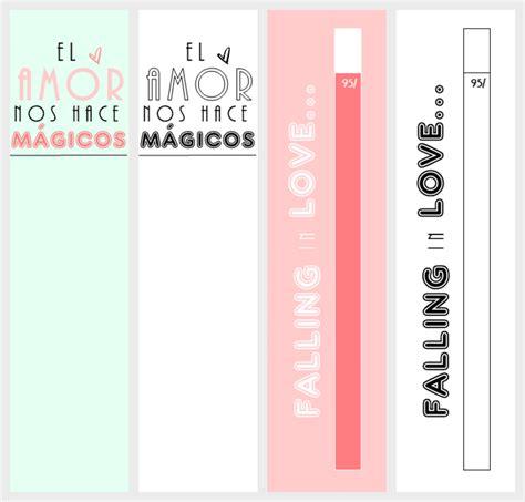 Marcapáginas imprimibles para regalar en San Valentín ...