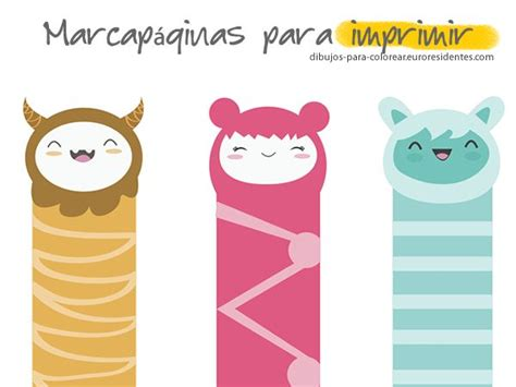 Marcapáginas para colorear. Free printable bookmark ...