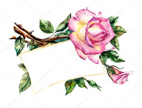 Marco de rosas. Dibujos boda — Foto de stock © budogosh ...