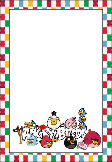 Marcos, Invitaciones, Tarjetas o Etiquetas de Angry Birds ...