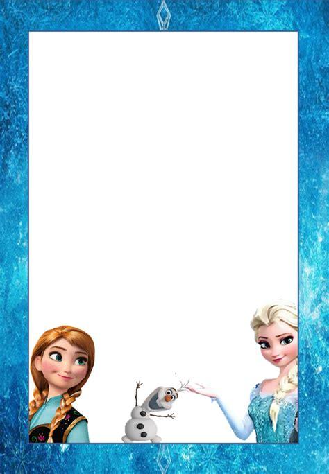 Marcos, Invitaciones, Tarjetas o Etiquetas de Frozen para ...