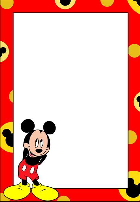 Marcos, Invitaciones, Tarjetas o Etiquetas de Mickey Mouse ...