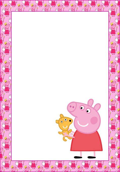 Marcos, Invitaciones, Tarjetas o Etiquetas de Peppa Pig ...