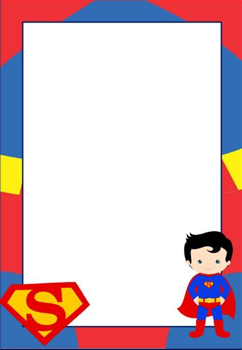 Marcos, Invitaciones, Tarjetas o Etiquetas de Superman ...