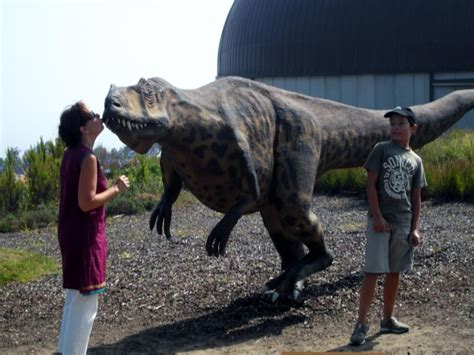 Marga Zuzama visitando el Muja, Museo de dinosaurios de ...