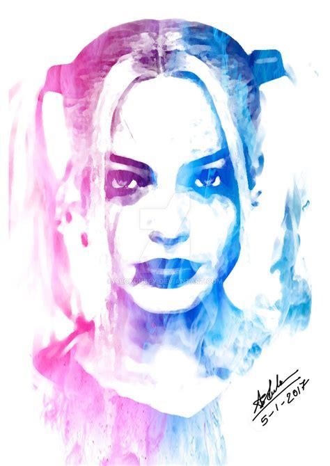 Margot Robbie Harley Quinn Portrait by ALOKDUBEY on DeviantArt