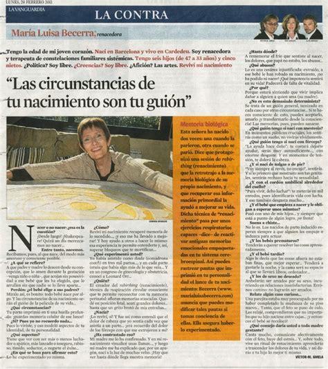 Maria Luisa BecerraLa contra La Vanguardia. Entrevista ...