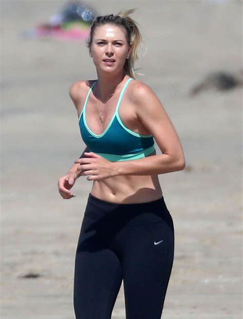 Maria Sharapova works out on the beach after admitting to ...
