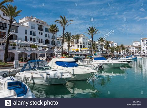 Marina Harbour Puerto de la Duquesa Spain Stock Photo ...